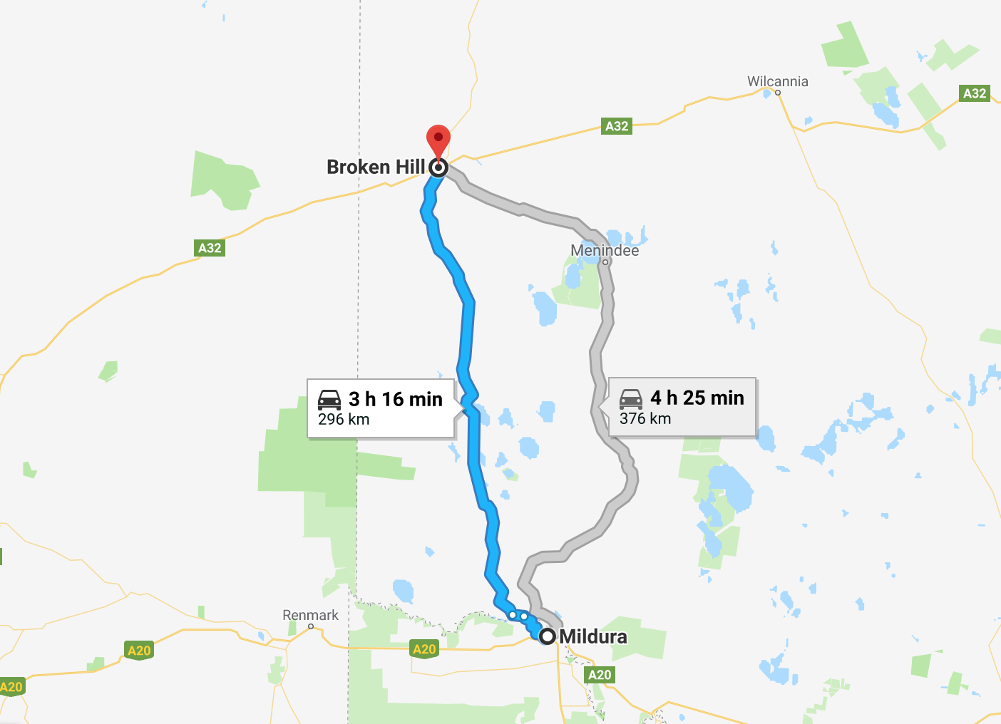 Mildura To Broken Hill