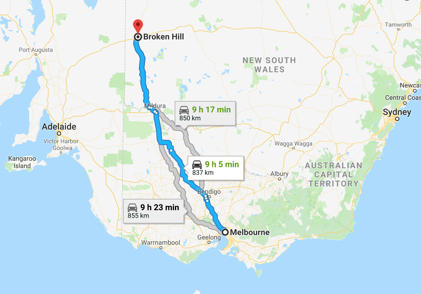Melbourne To Broken Hill
